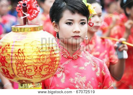 Thailand girl in Chinese style