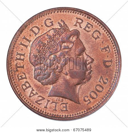 Two British Pennies Coin