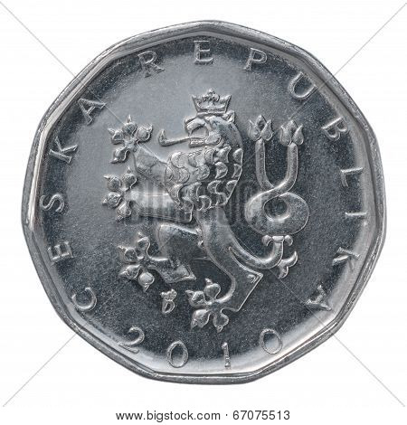 Two Czech Koruna Coin