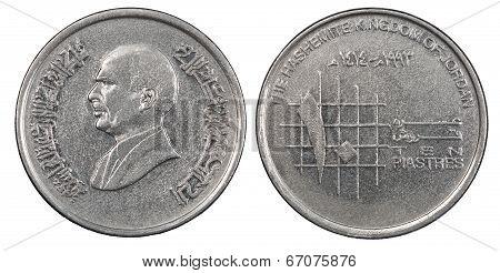 Jordanian Piasters Coin