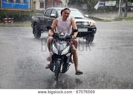 Tropical Rain In Cambodia