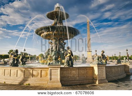 Fountains At Place De La Concord, Paris