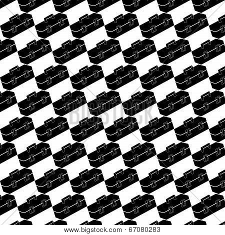 Seamless Pattern Background Of Toolbox