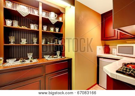 Kitchen Corner With Old Cabinet View