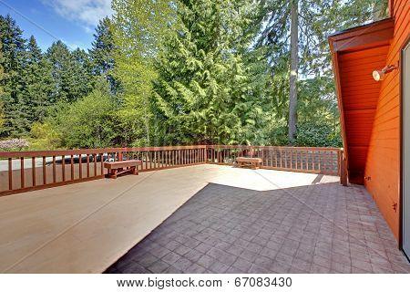 Spacious Walkout Deck View