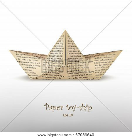 News?aper Toy-ship_old