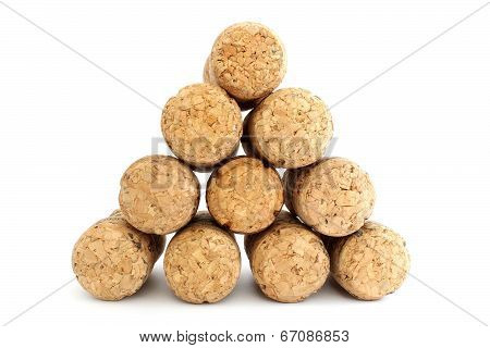 Pyramid Of Champagne Corks