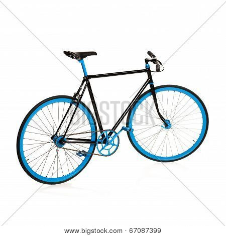 Stylish Bicycle Isolated On White