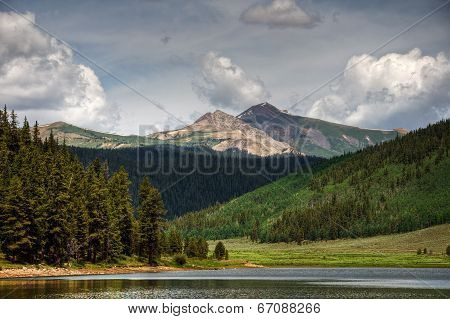 Italian Mountain Over Spring Creek Rservoir