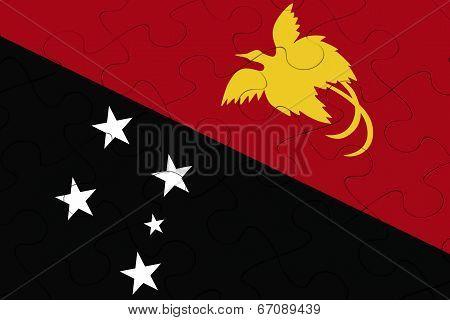 Papua New Guine Flag Jigsaw Puzzle