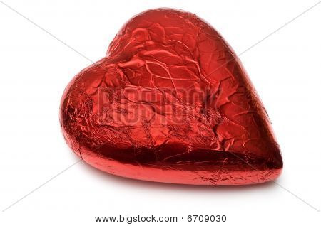 Foil Wrapped Red Chocolate Heart