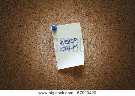 Keep Calm Note