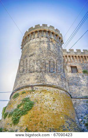 Bastion Of The Odescalchi Castle In Bracciano