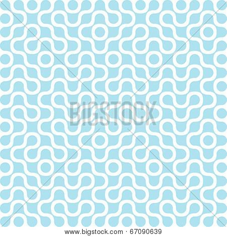 Molecule DNA Electronic Circuit Vector Background abstract. Technology Chip Seamless Pattern. Molecular structure texture.