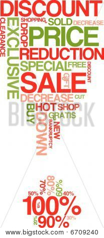 Red And Green Sale Discount Poster