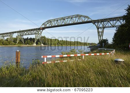 Hochdonn - Railroad Bridge Over The Kiel Canal