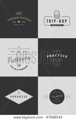 Trendy Retro Vintage Insignias Bundle