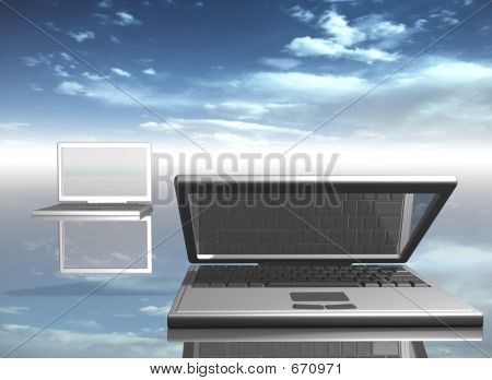 Picture or Photo of Laptops - 3d render