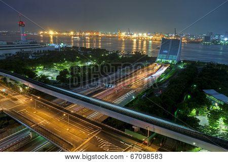 Tokyo Port At Night