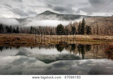 Green Mountain Reflection