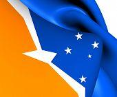 foto of tierra  - Flag of Tierra del Fuego - JPG