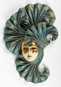 picture of venetian carnival  - a Venetian carnival mask made of leather and papar mache - JPG