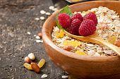 foto of cereal bowl  - Healthy breakfast  - JPG