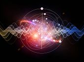 picture of quantum  - Abstract concept of and quantum waves illustrated with fractal elements - JPG