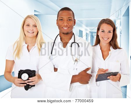 Team of young medical professionals.