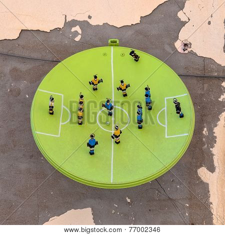Football Art Installation In Syracuse - Italy