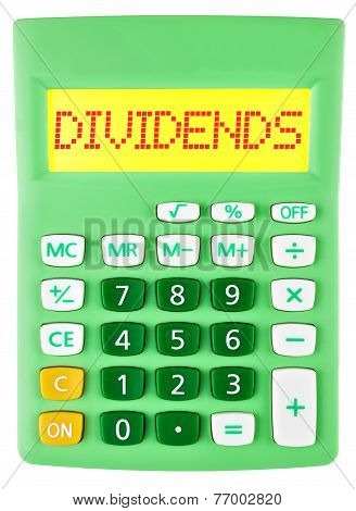 Calculator With Dividends On Display