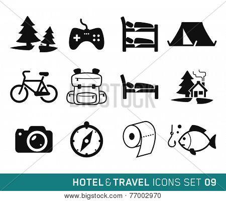Hotel & Travel icons set // 09