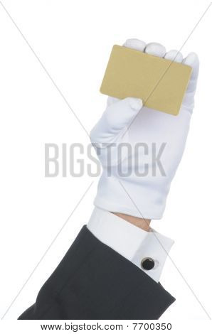 Butler With Blank Gold Card