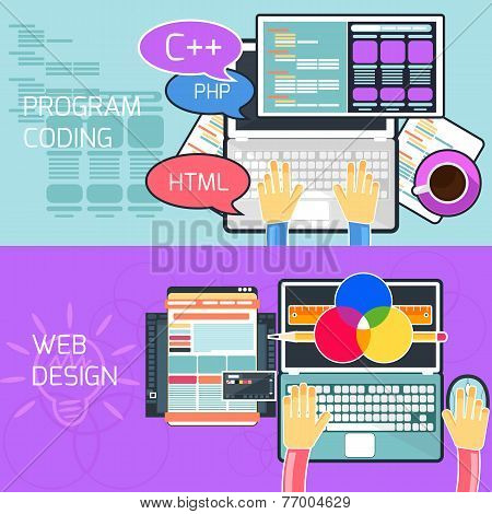 Program coding and web design