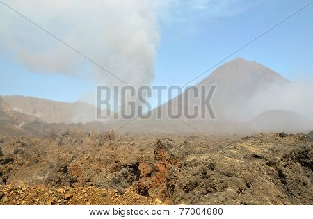 Dust Clouds Forms Over Eruption