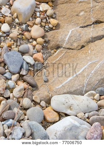 Rock and pebble stones background
