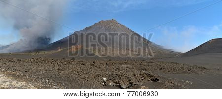 Eruption In Fogo Cabo Verde