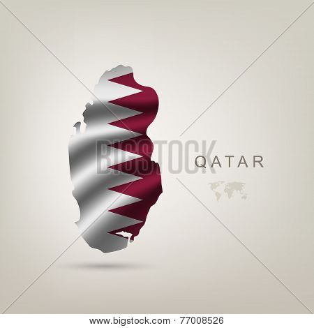 flag of Qatar as a country