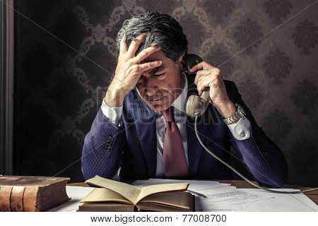 Businessman calling someone