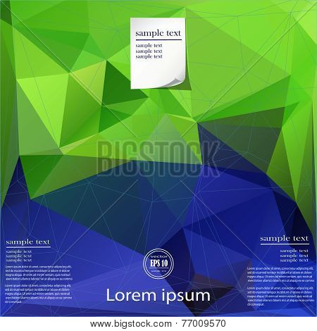 Polygonal Template Background For Design