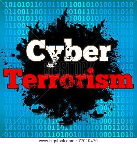 Cyber Terrorism Binary Background