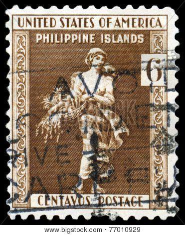 Vintage Postage Stamp. La Filipina.