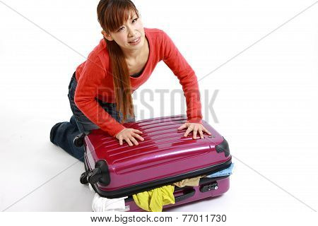 Overloaded Suitcase