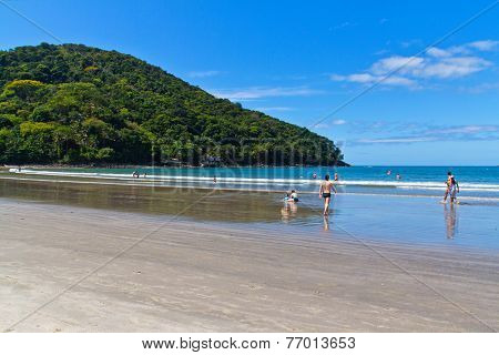Barra do Sahy - Brazilian beach in Sao Sebastiao - Sao Paulo - Brazil