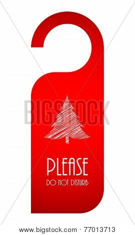 Door Hanger With Christmas Design