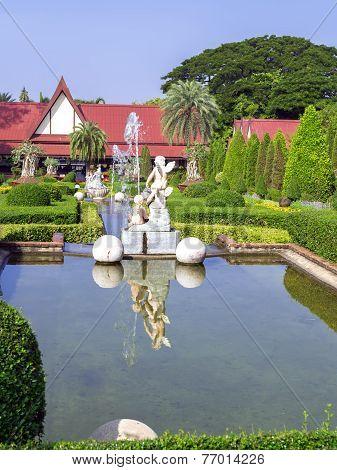 Fountains In Nong Nooch Garden.