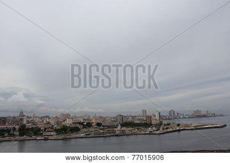 Havana Cityscape From Fortaleza De San Carlos