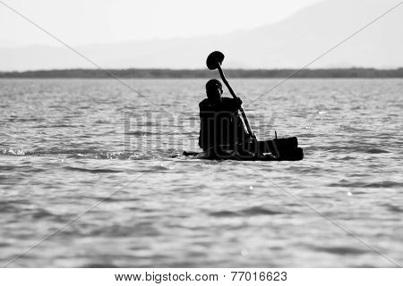 Rowing At Lake Chamo, Ethiopia.