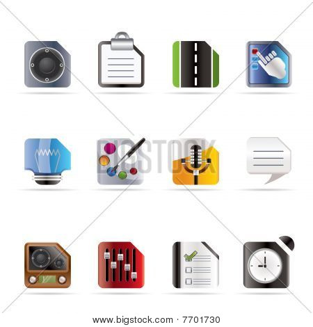 Mobile Phone, Computer and Internet Icons