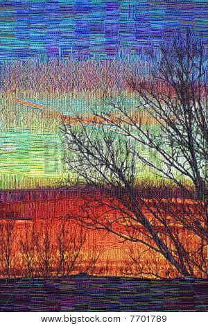 Stock Image Of Sunset Tapestry